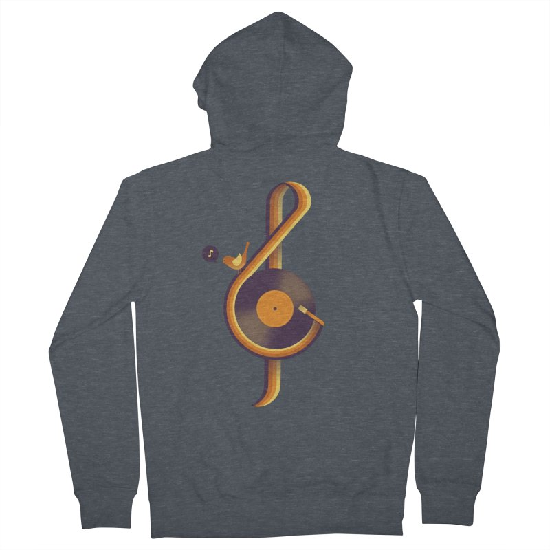 Retro Music Men's French Terry Zip-Up Hoody by Palitosci