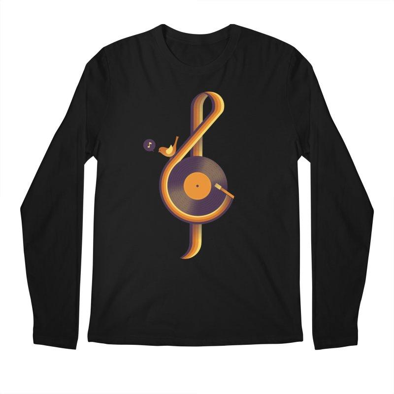 Retro Music Men's Longsleeve T-Shirt by Palitosci
