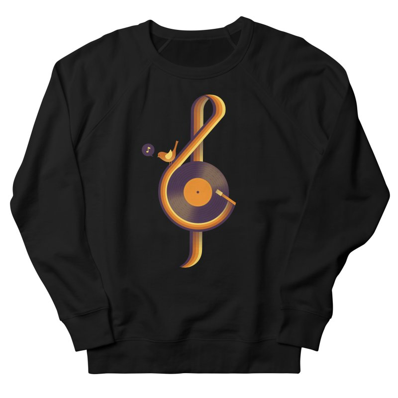 Retro Music Men's French Terry Sweatshirt by Palitosci