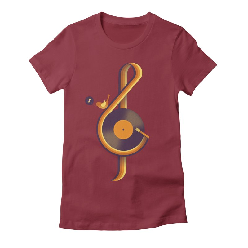 Retro Music Women's Fitted T-Shirt by Palitosci