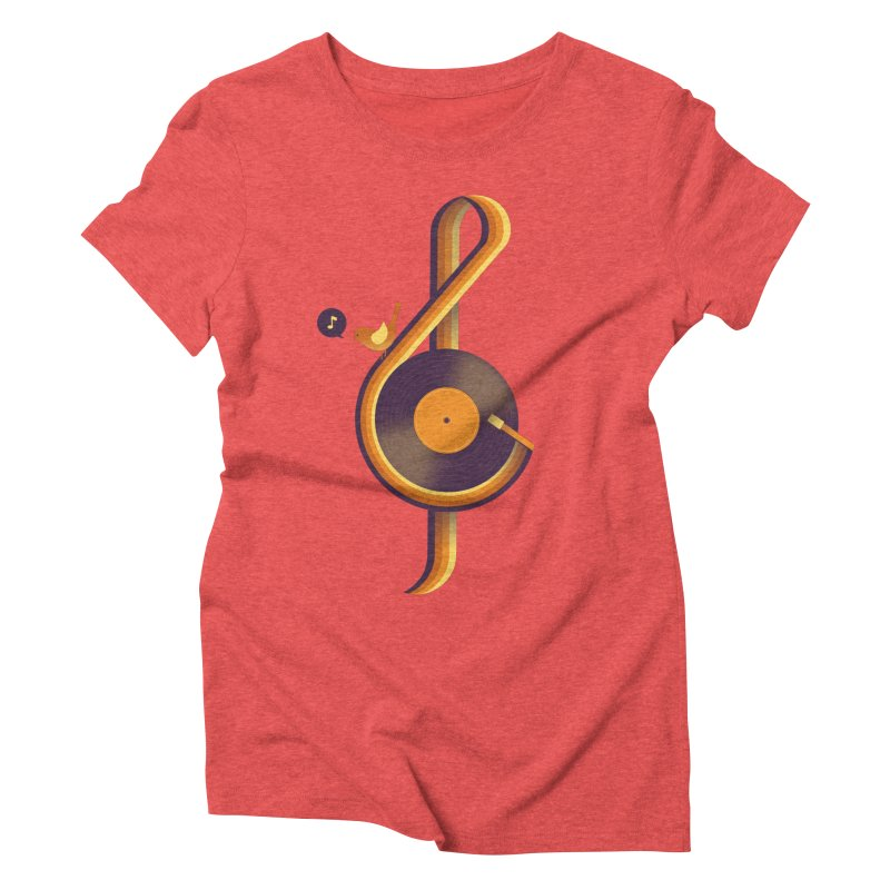 Retro Music Women's Triblend T-shirt by Palitosci