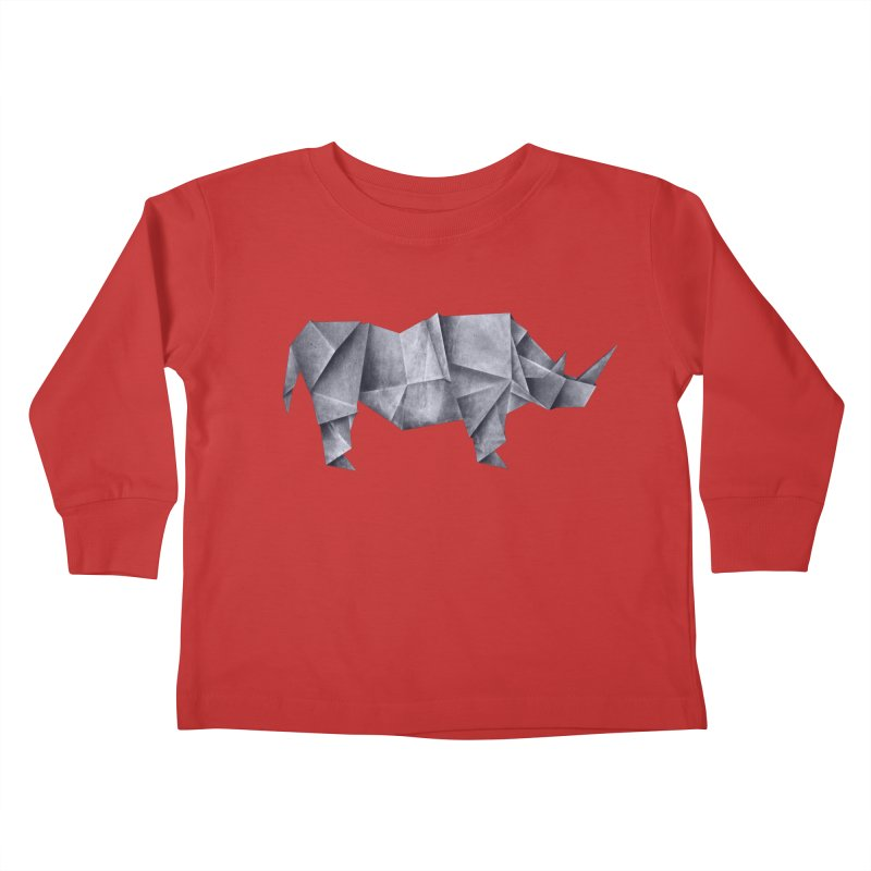 Rhinogami Kids Toddler Longsleeve T-Shirt by Palitosci