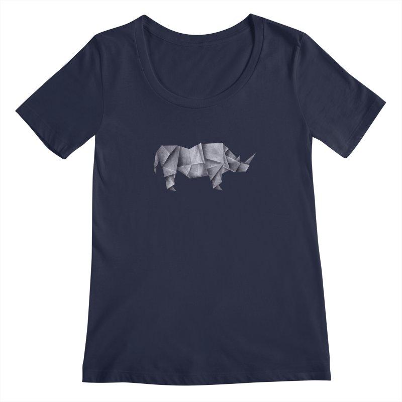 Rhinogami Women's Regular Scoop Neck by Palitosci