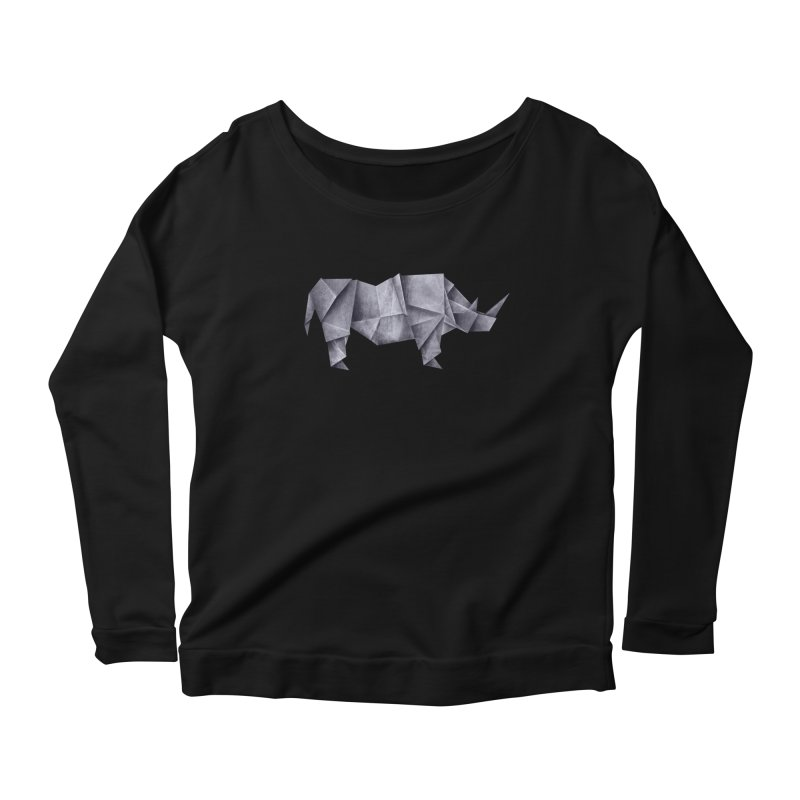 Rhinogami Women's Scoop Neck Longsleeve T-Shirt by Palitosci