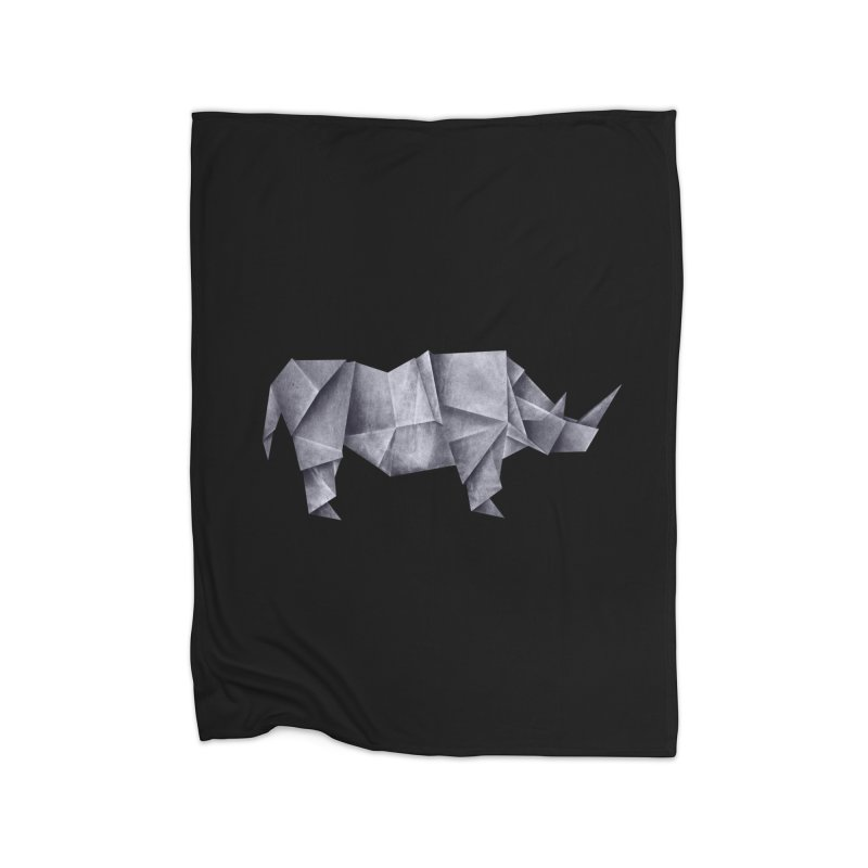 Rhinogami Home Fleece Blanket Blanket by Palitosci