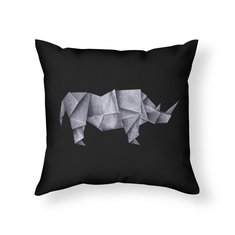 Rhinogami Home Throw Pillow by Palitosci