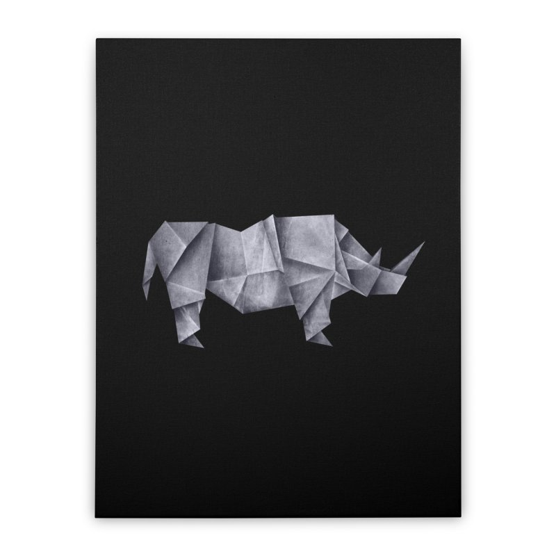 Rhinogami Home Stretched Canvas by Palitosci