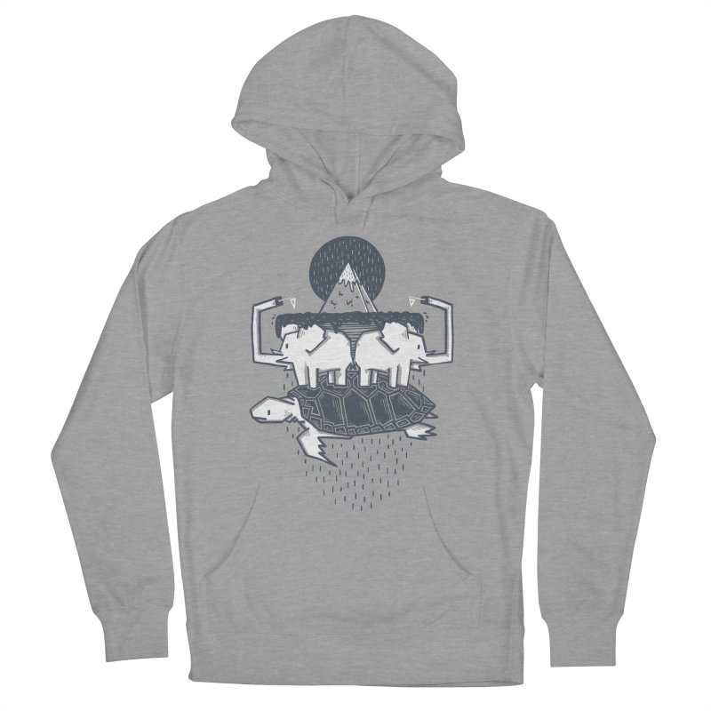 The Flat Earth Women's French Terry Pullover Hoody by Palitosci