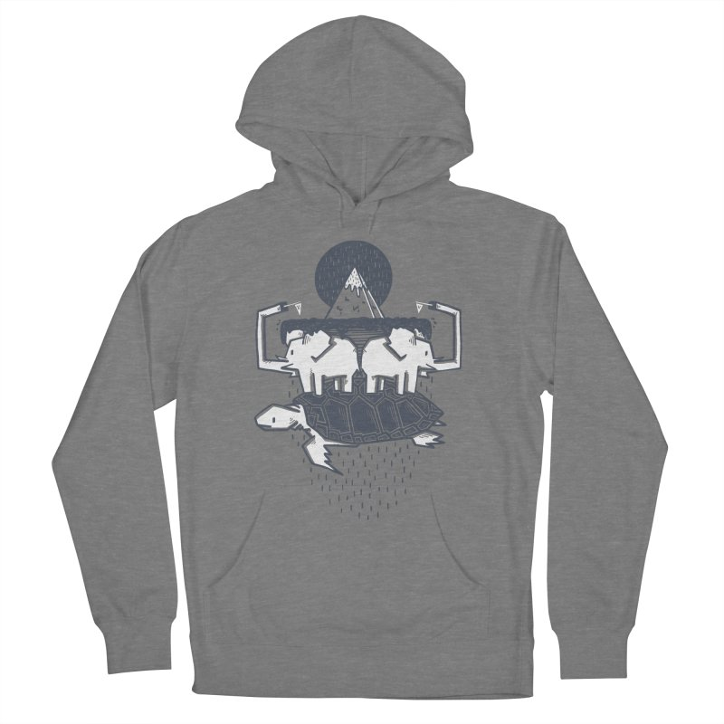 The Flat Earth Men's French Terry Pullover Hoody by Palitosci