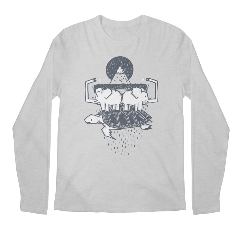 The Flat Earth Men's Regular Longsleeve T-Shirt by Palitosci