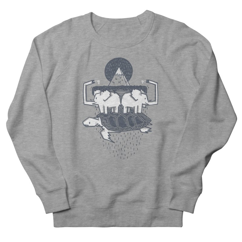 The Flat Earth Men's French Terry Sweatshirt by Palitosci