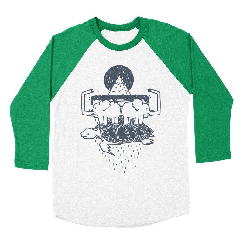 The Flat Earth Women's Baseball Triblend Longsleeve T-Shirt by Palitosci