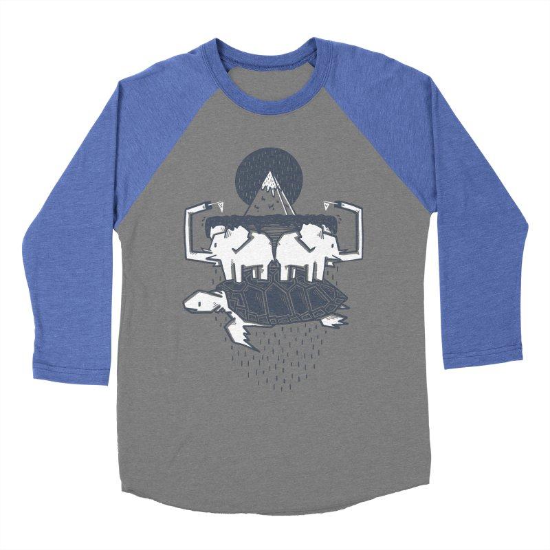 The Flat Earth Women's Baseball Triblend T-Shirt by Palitosci