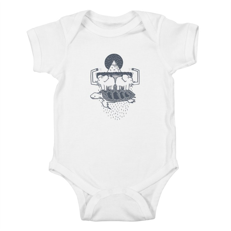 The Flat Earth Kids Baby Bodysuit by Palitosci
