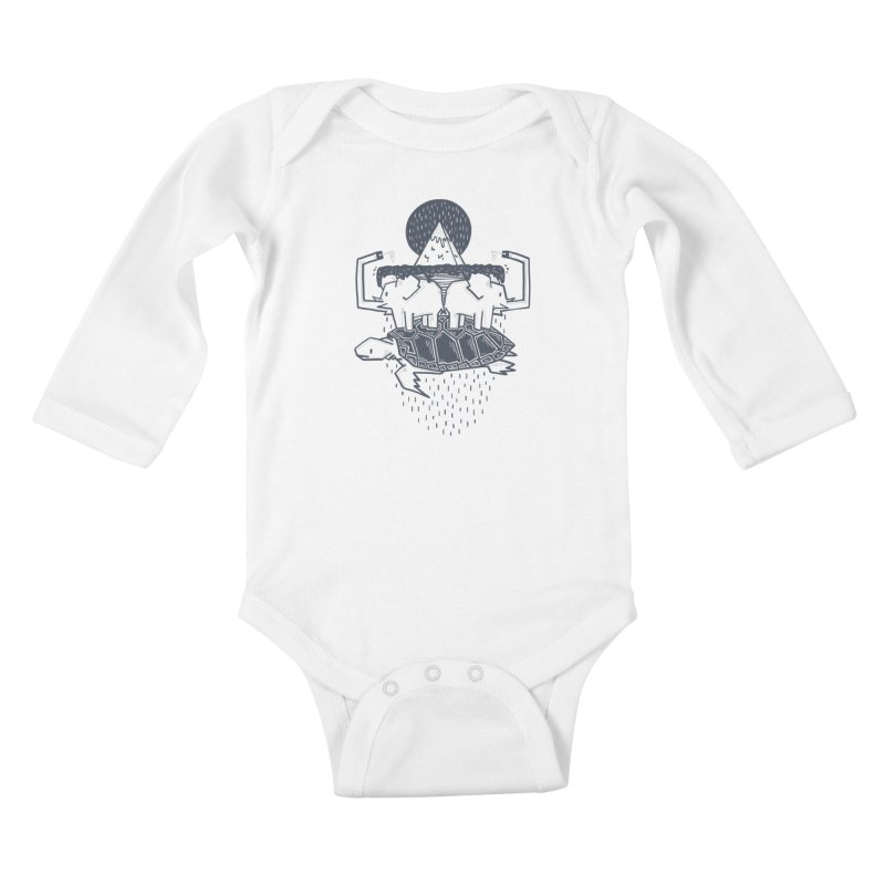 The Flat Earth Kids Baby Longsleeve Bodysuit by Palitosci
