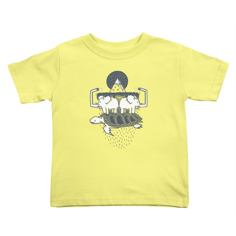 The Flat Earth Kids Toddler T-Shirt by Palitosci