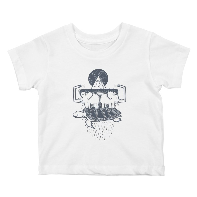 The Flat Earth Kids Baby T-Shirt by Palitosci