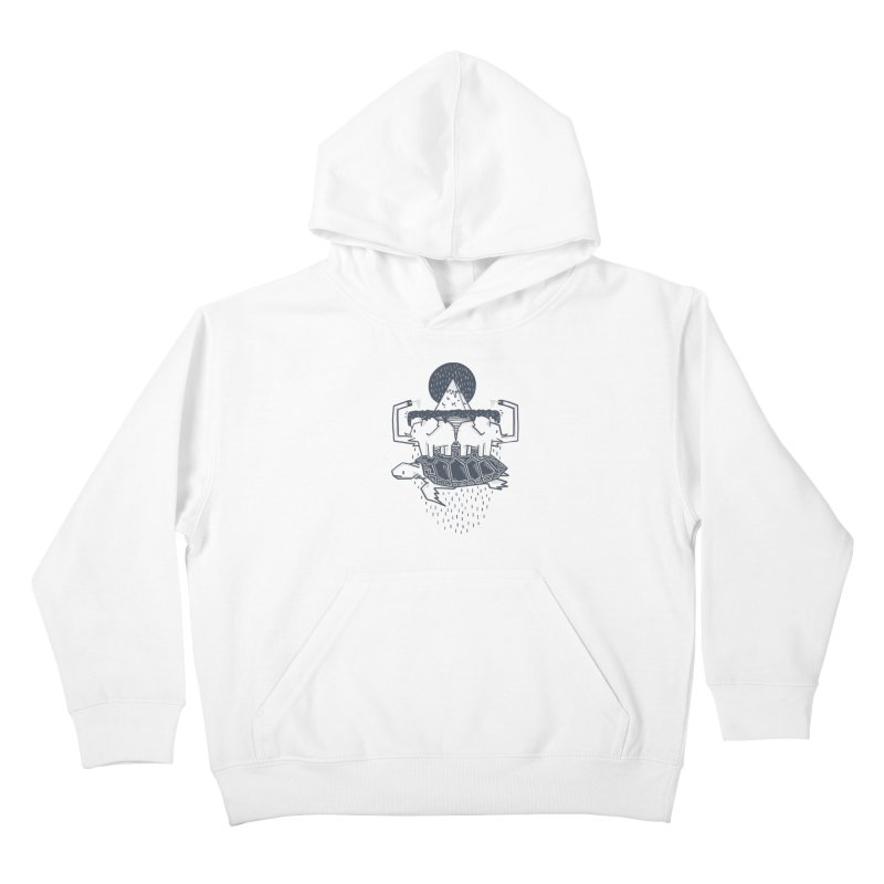 The Flat Earth Kids Pullover Hoody by Palitosci