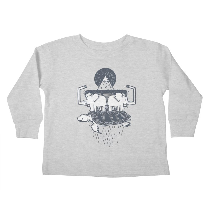 The Flat Earth Kids Toddler Longsleeve T-Shirt by Palitosci