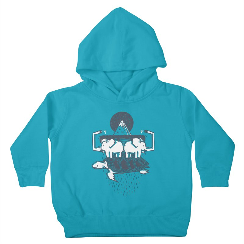 The Flat Earth Kids Toddler Pullover Hoody by Palitosci