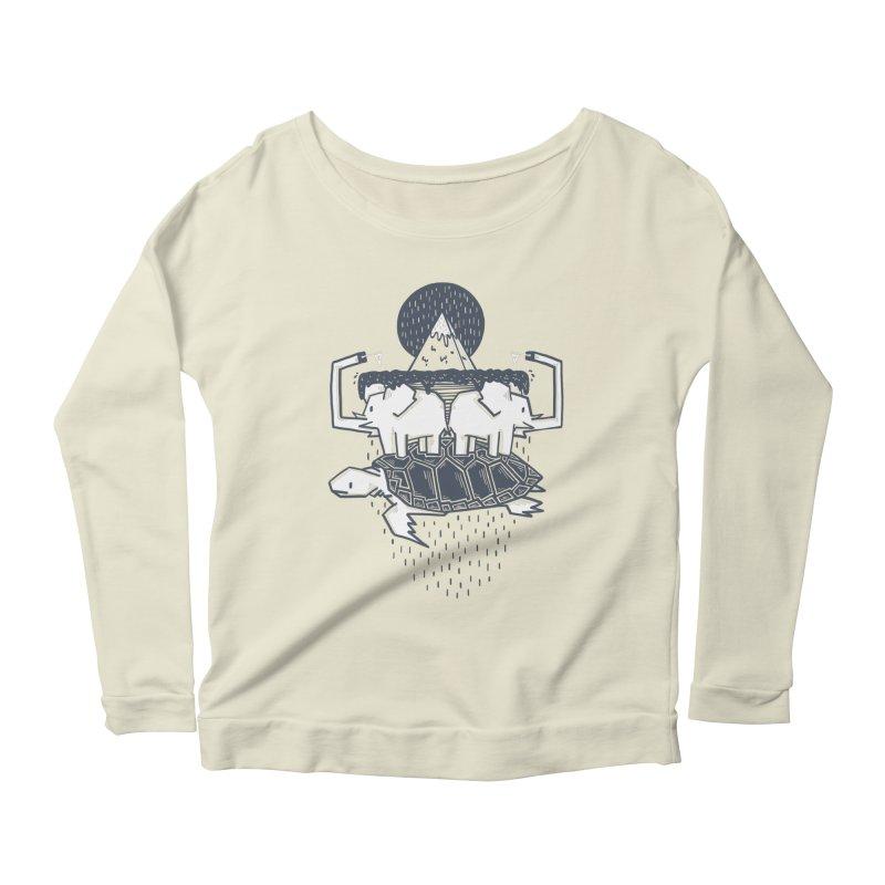The Flat Earth Women's Scoop Neck Longsleeve T-Shirt by Palitosci
