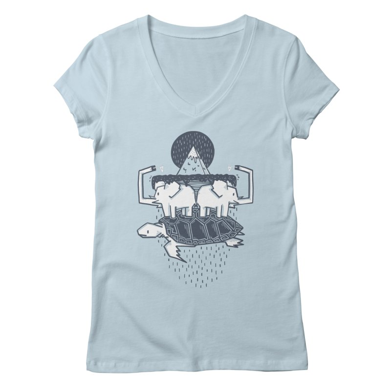 The Flat Earth Women's V-Neck by Palitosci