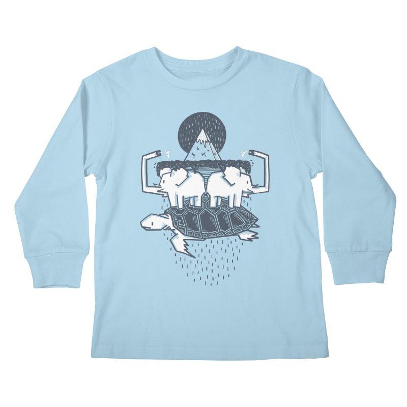 The Flat Earth Kids Longsleeve T-Shirt by Palitosci