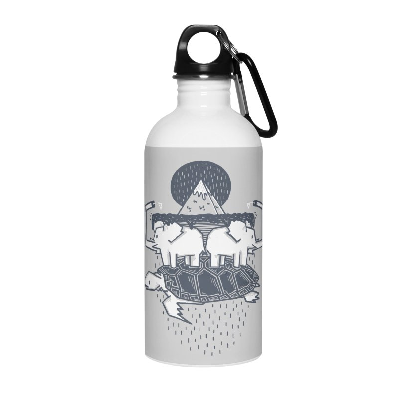 The Flat Earth Accessories Water Bottle by Palitosci