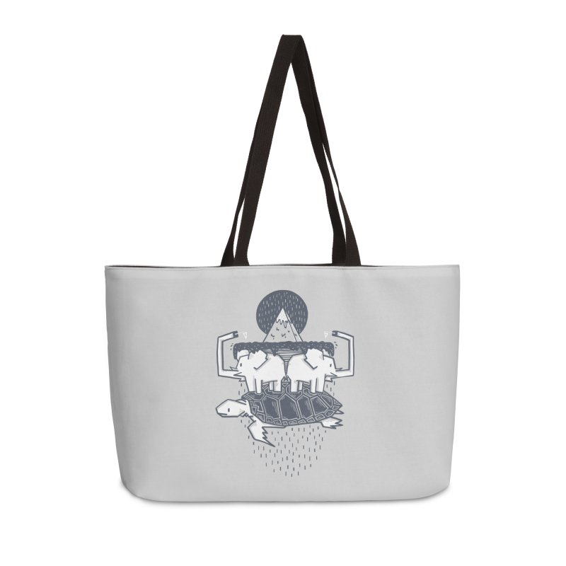 The Flat Earth Accessories Weekender Bag Bag by Palitosci