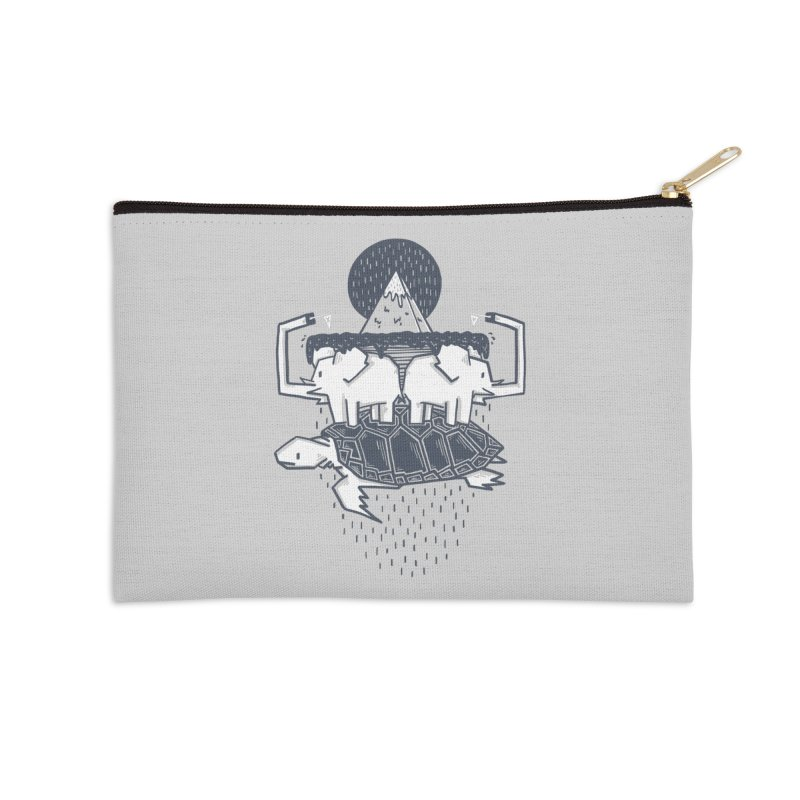 The Flat Earth Accessories Zip Pouch by Palitosci