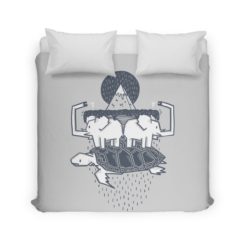 The Flat Earth Home Duvet by Palitosci
