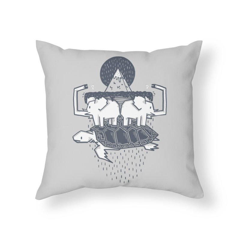 The Flat Earth Home Throw Pillow by Palitosci
