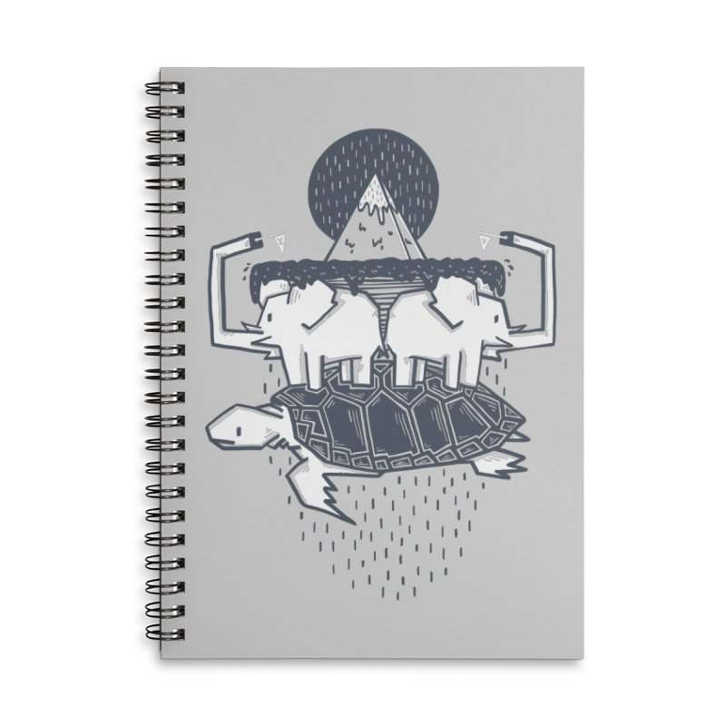 The Flat Earth Accessories Lined Spiral Notebook by Palitosci