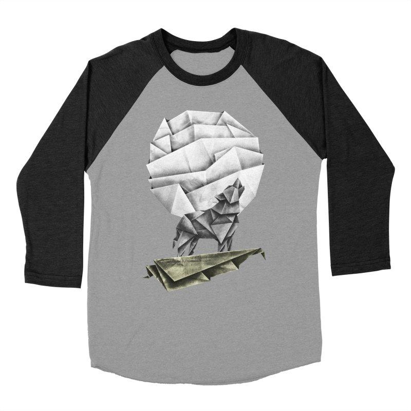 Wolfgami Women's Baseball Triblend Longsleeve T-Shirt by Palitosci