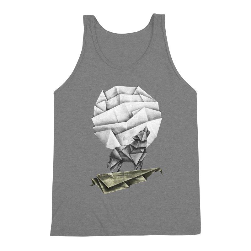Wolfgami Men's Triblend Tank by Palitosci