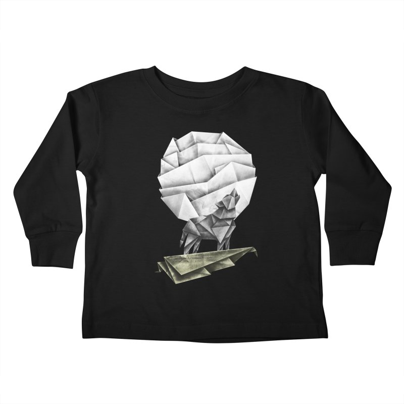 Wolfgami Kids Toddler Longsleeve T-Shirt by Palitosci