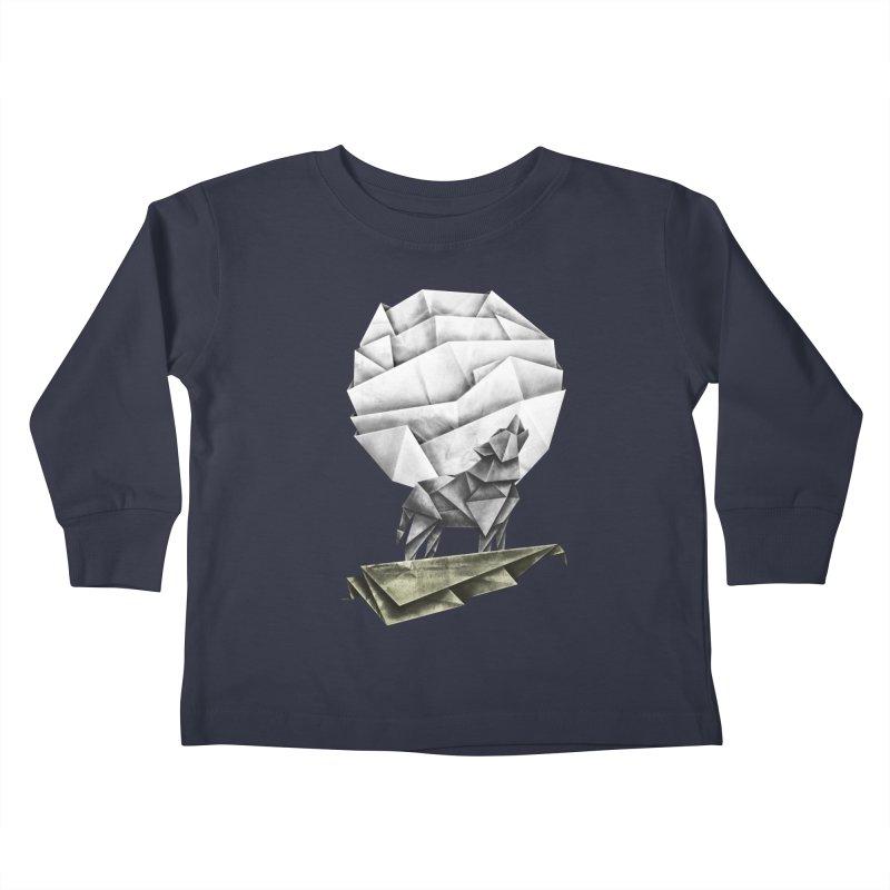 Wolfgami Kids Toddler Longsleeve T-Shirt by Palitosci