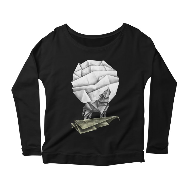Wolfgami Women's Scoop Neck Longsleeve T-Shirt by Palitosci