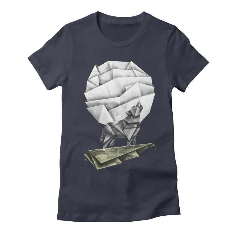 Wolfgami Women's Fitted T-Shirt by Palitosci