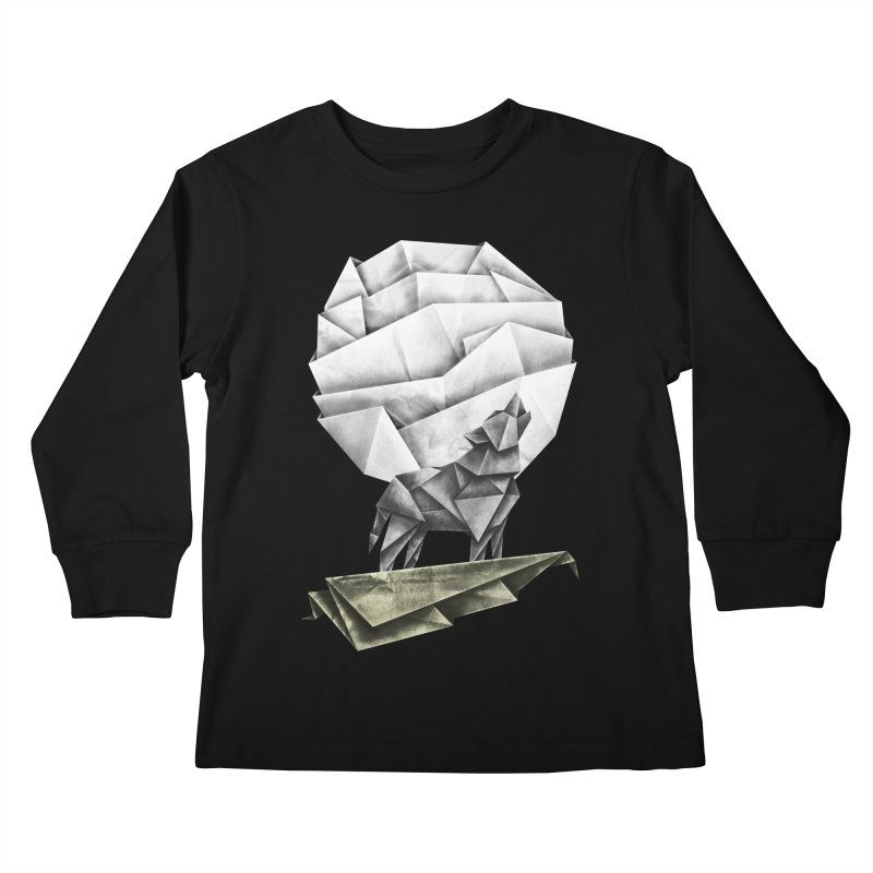 Wolfgami Kids Longsleeve T-Shirt by Palitosci