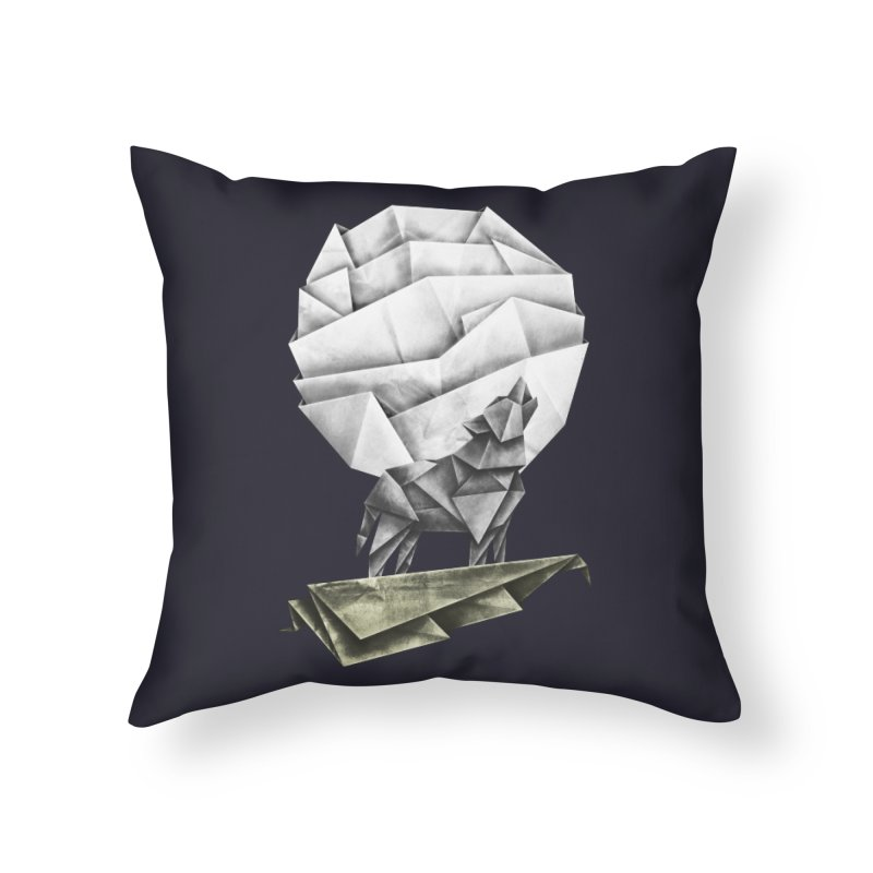 Wolfgami Home Throw Pillow by Palitosci