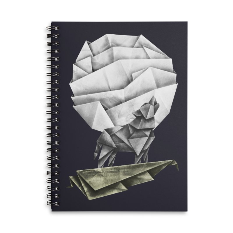 Wolfgami Accessories Lined Spiral Notebook by Palitosci