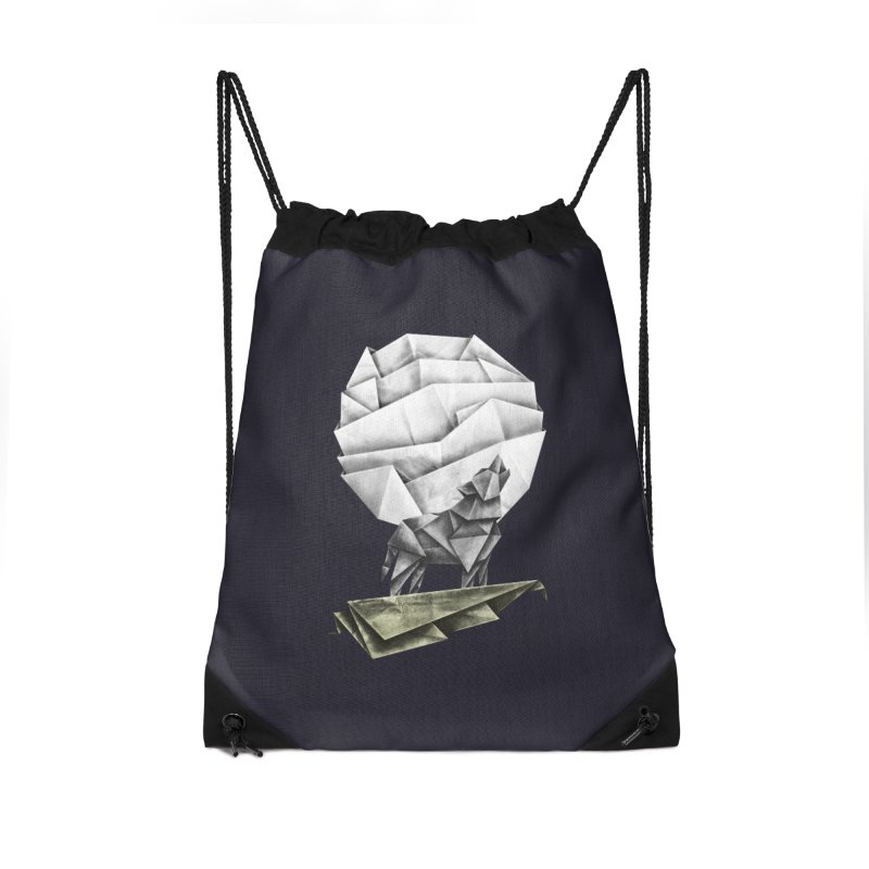 Wolfgami Accessories Drawstring Bag Bag by Palitosci