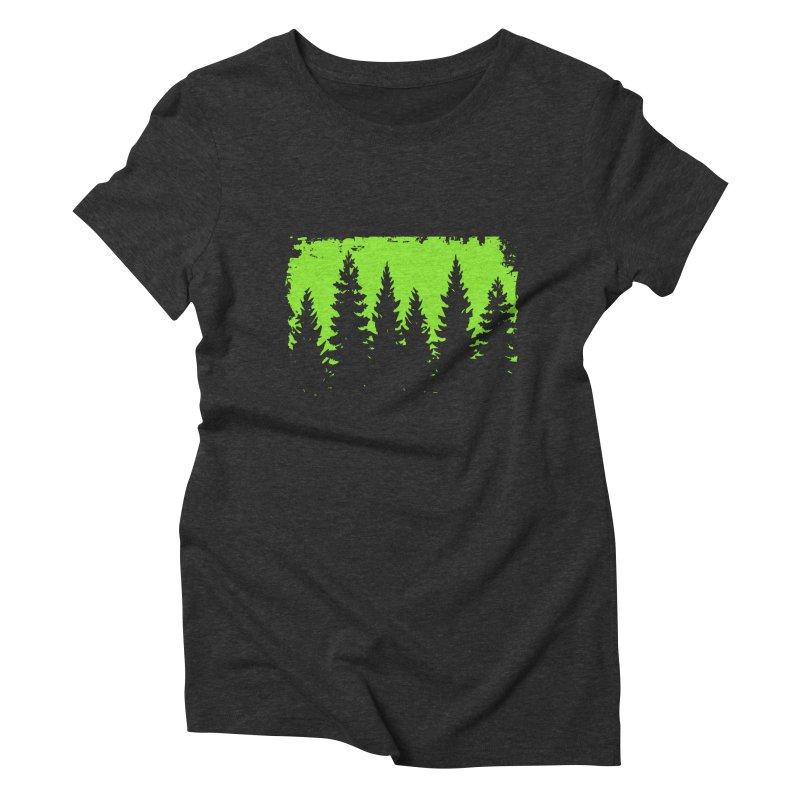 Green forest illustration Women's T-Shirt by Pall Kris Artist Shop