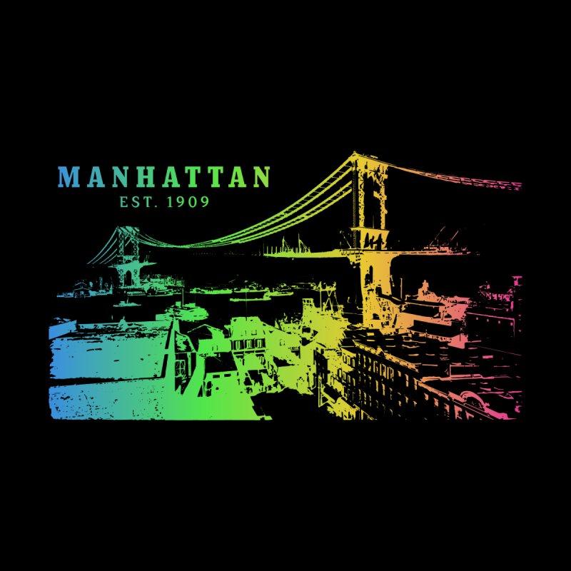 Manhattan Bridge US Men's T-Shirt by Pall Kris Artist Shop