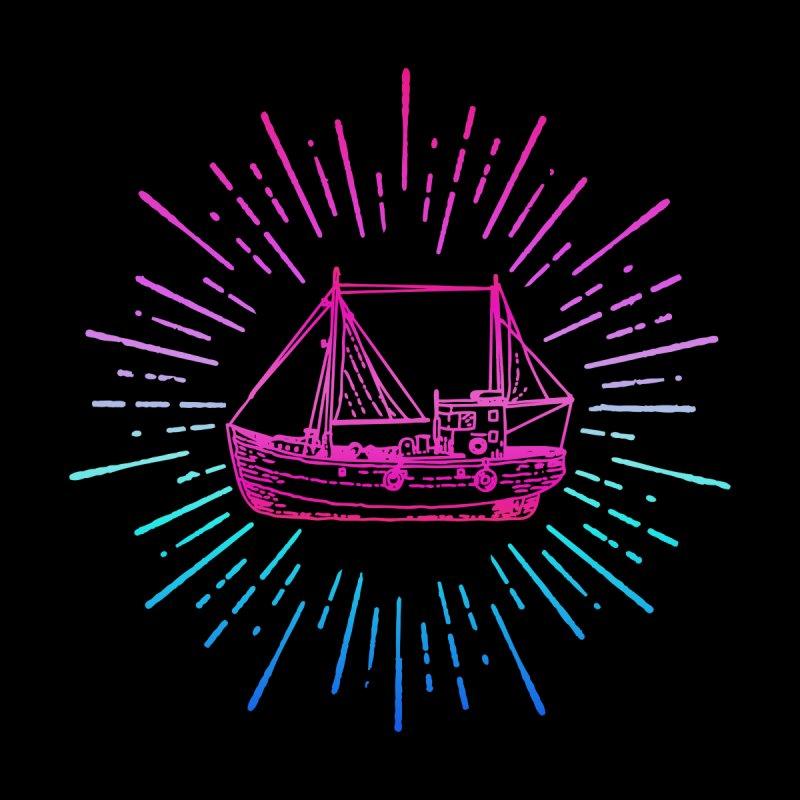 Cute Sailing Boat Men's V-Neck by Pall Kris T-Shirts Shop