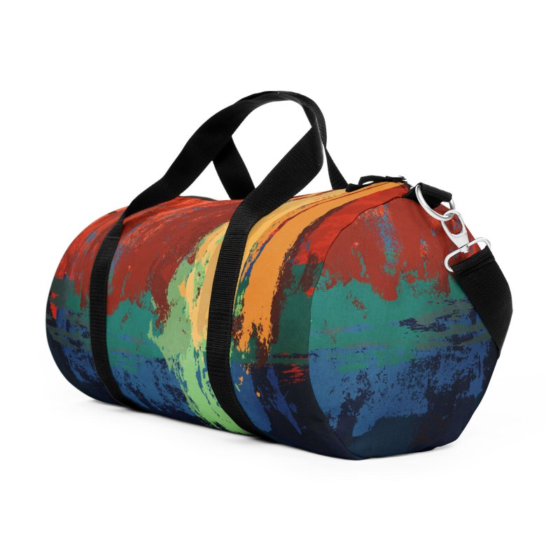 Abstract sunset in Duffel Bag by Pall Kris Artist Shop