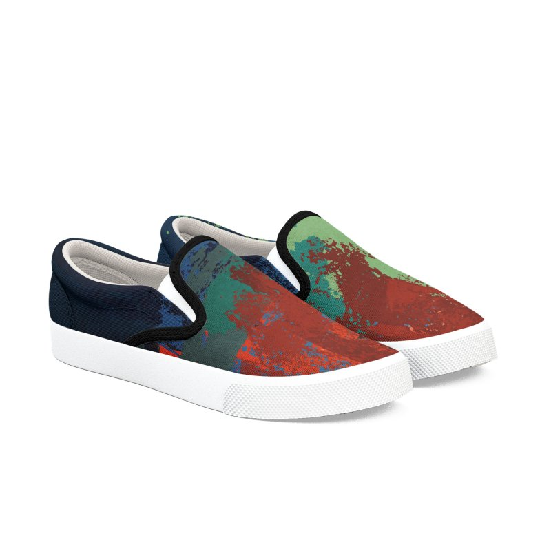 Abstract sunset in Men's Slip-On Shoes by Pall Kris Artist Shop