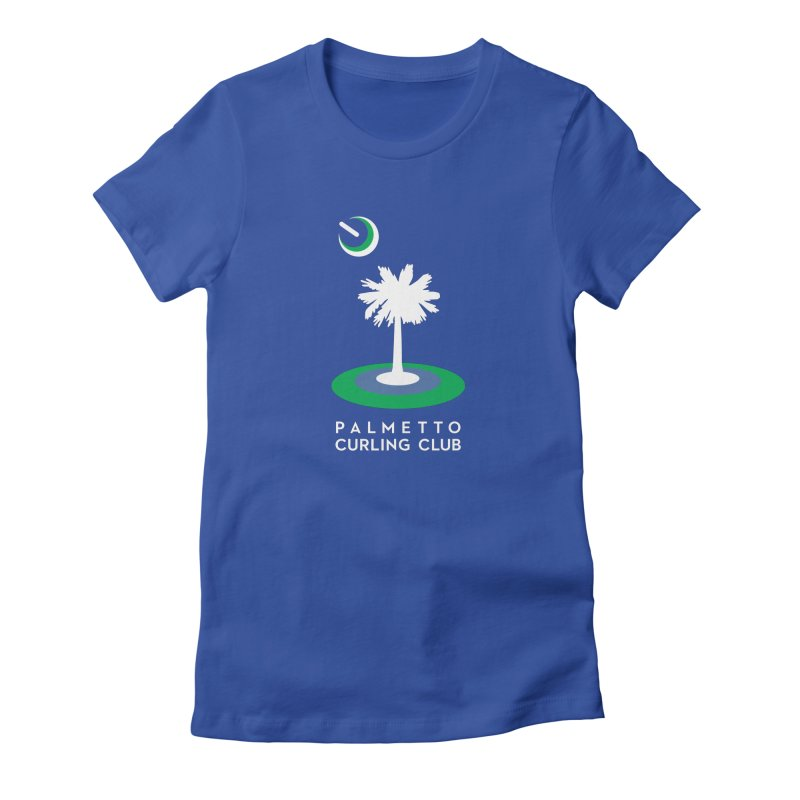 Blue Apparel in Women's Fitted T-Shirt Royal Blue by Palmetto Curling Club Swag