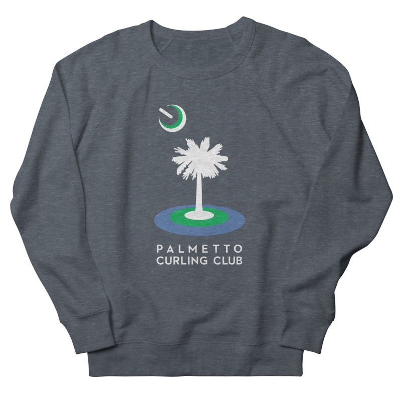 Dark Apparel in Men's French Terry Sweatshirt Heather Navy Denim by Palmetto Curling Club Swag